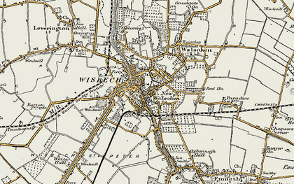 Old map of Wisbech in 1901-1902