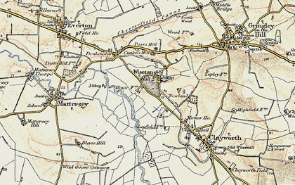 Old map of Wiseton in 1903