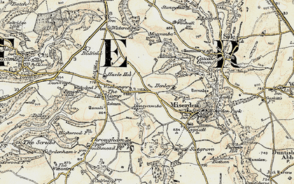 Old map of Wishanger in 1898-1899