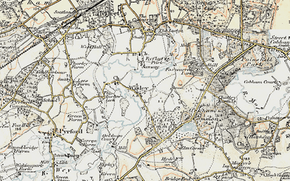 Old map of Wisley in 1897-1909