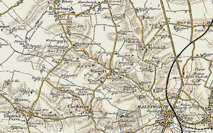 Old map of Wissett Lodge in 1901-1902