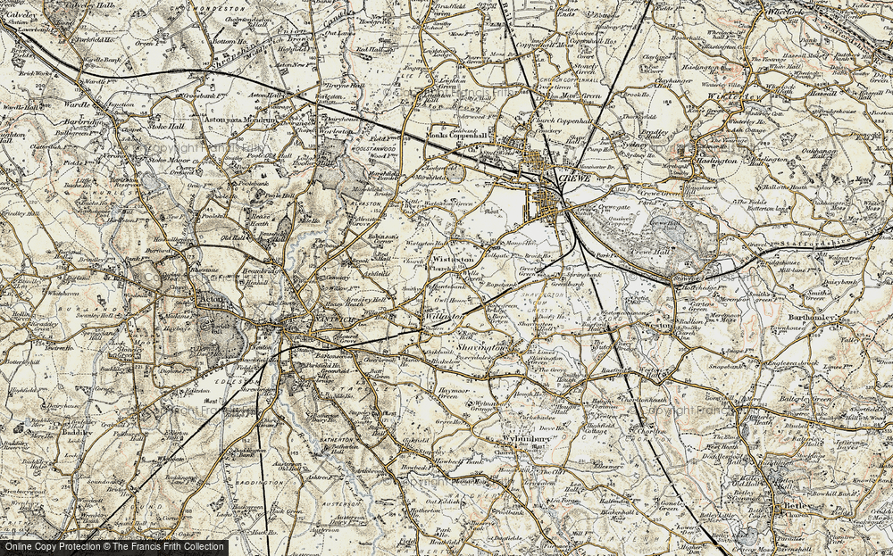 Old Map of Wistaston, 1902 in 1902