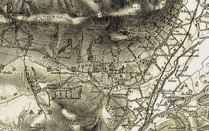 Old map of Wiston Lodge in 1904-1905