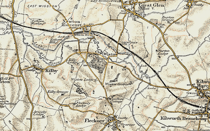 Old map of Wistow in 1901-1903