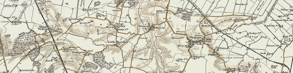 Old map of Wistow in 1901