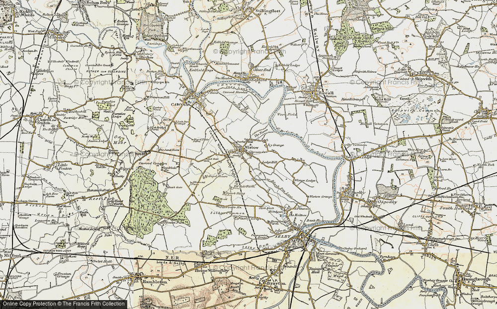 Old Map of Wistow, 1903 in 1903
