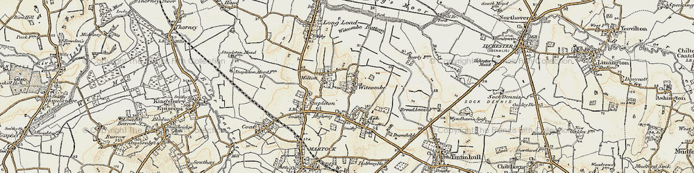 Old map of Witcombe in 1898-1900