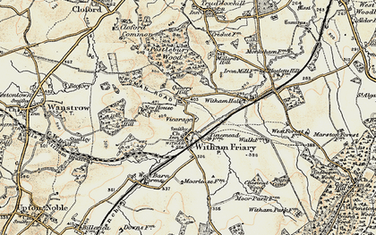 Old map of Witham Friary in 1897-1899