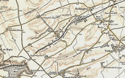 Old map of Withcall in 1902-1903