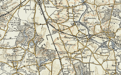 Old map of Withergate in 1901-1902