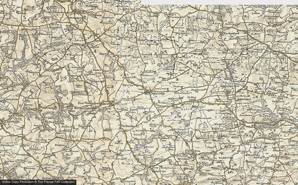 Old Map of Historic Map covering Woodford in 1899-1900