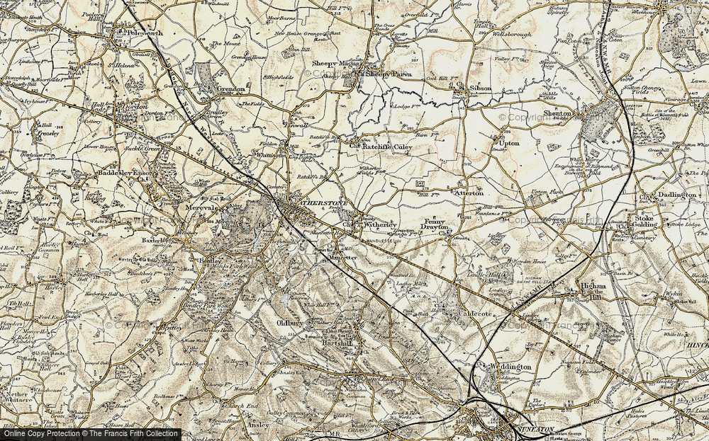 Old Map of Witherley, 1901-1903 in 1901-1903