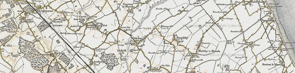 Old map of Withern in 1902-1903