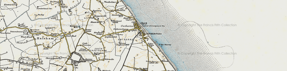 Old map of Withernsea in 1903-1908