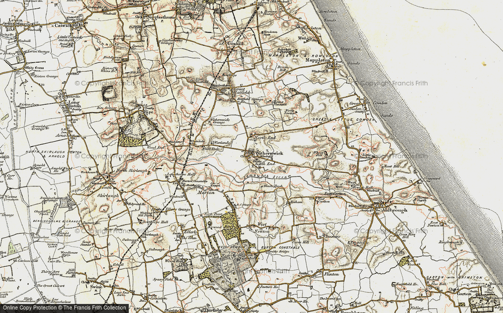 Old Map of Withernwick, 1903-1908 in 1903-1908