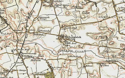 Old map of Withernwick in 1903-1908