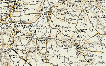 Old map of Withersdale Street in 1901-1902