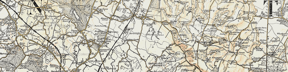 Old map of Withersdane in 1897-1898