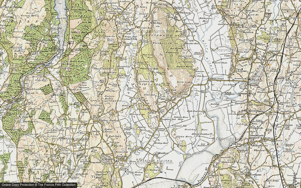 Old Map of Historic Map covering Askew Green in 1903-1904