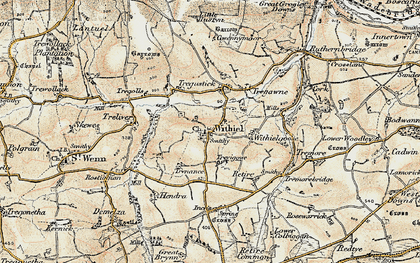 Old map of Withiel in 1900