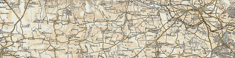 Old map of Withielgoose Mills in 1900