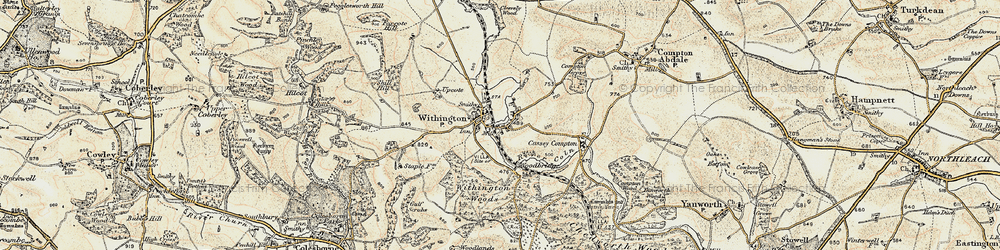 Old map of Withington in 1898-1900