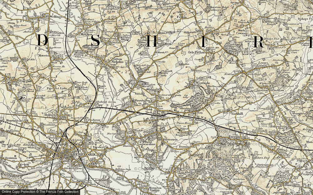 Old Map of Withington, 1899-1901 in 1899-1901
