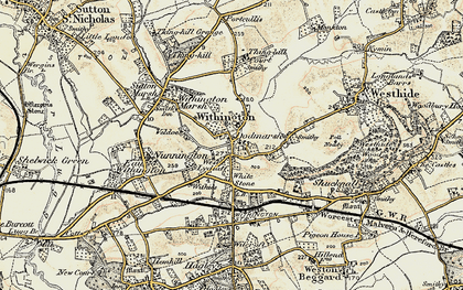 Old map of Withington in 1899-1901