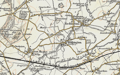 Old map of Withington in 1902