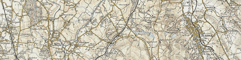 Old map of Withnell in 1903