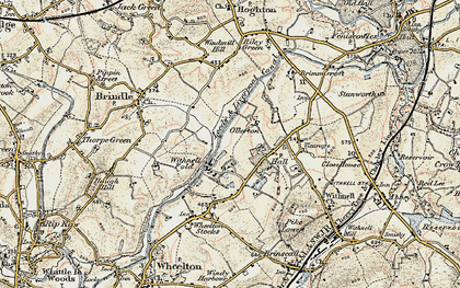 Old map of Withnell Fold in 1903