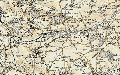 Old map of Withy Mills in 1899
