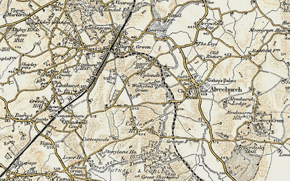 Old map of Withybed Green in 1901-1902