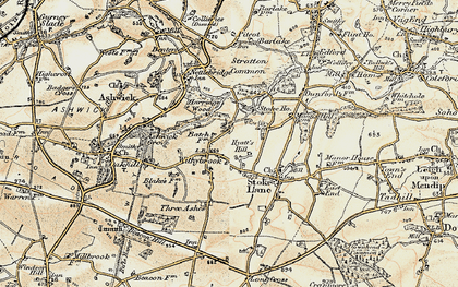 Old map of Withybrook in 1899