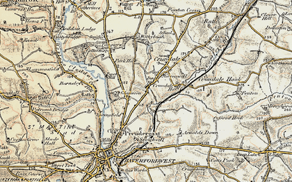 Old map of Withybush in 1901-1912