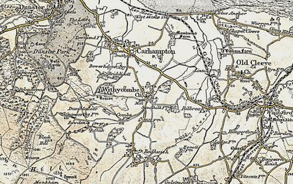 Old map of Withycombe in 1898-1900