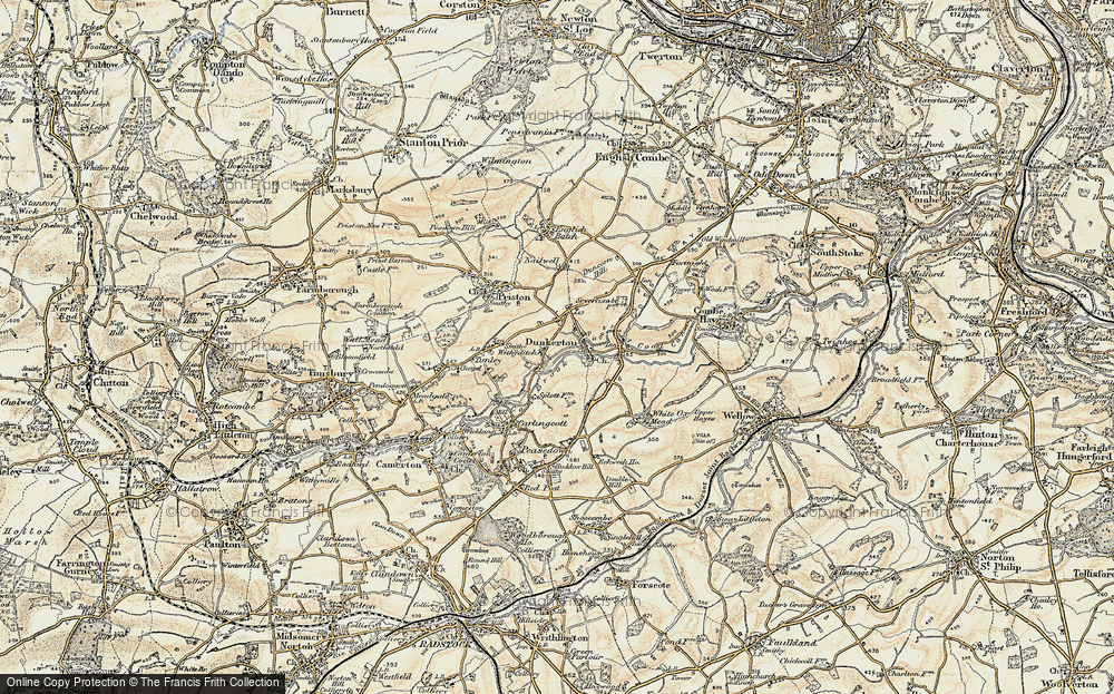 Old Map of Withyditch, 1899 in 1899