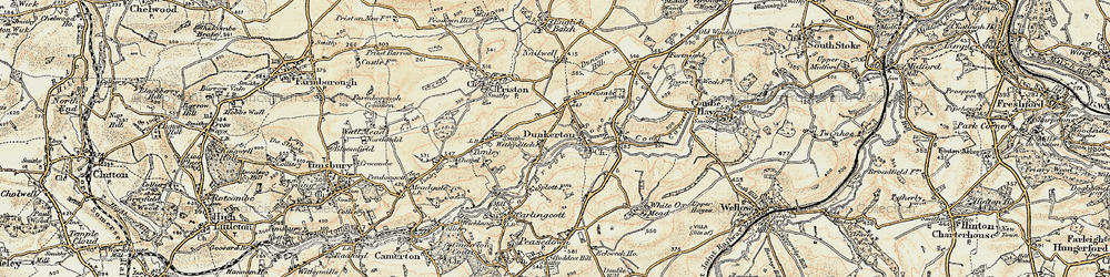Old map of Withyditch in 1899