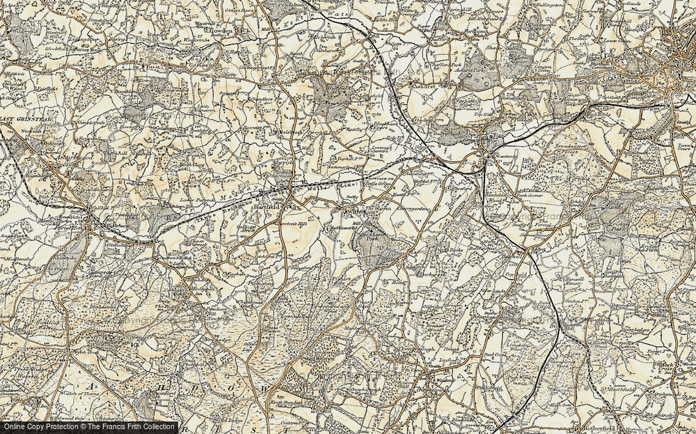 Old Map of Withyham, 1898 in 1898
