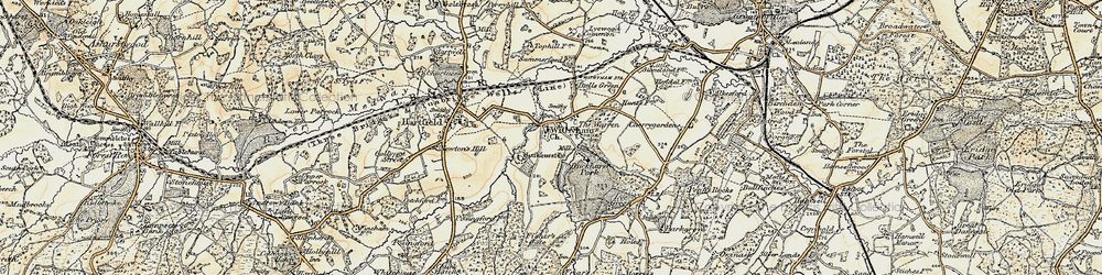 Old map of Withyham in 1898