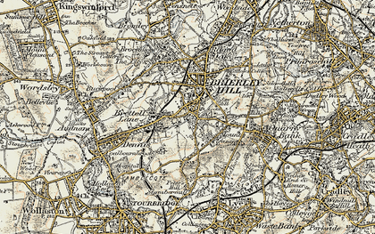 Old map of Withymoor Village in 1902
