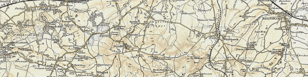Old map of Withywood in 1899