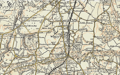 Old map of Witley in 1897-1909