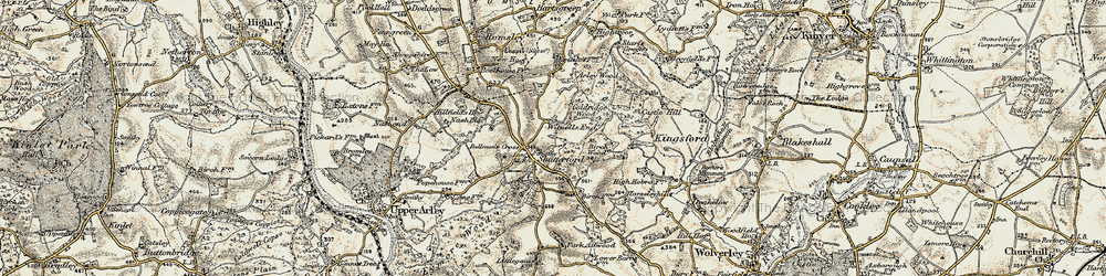Old map of Witnells End in 1901-1902