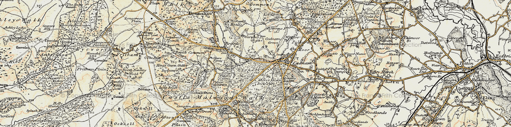Old map of Wittensford in 1897-1909