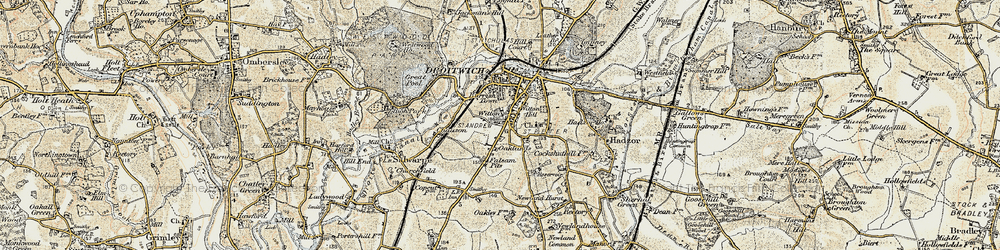 Old map of Witton in 1899-1902