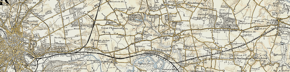 Old map of Witton in 1901-1902