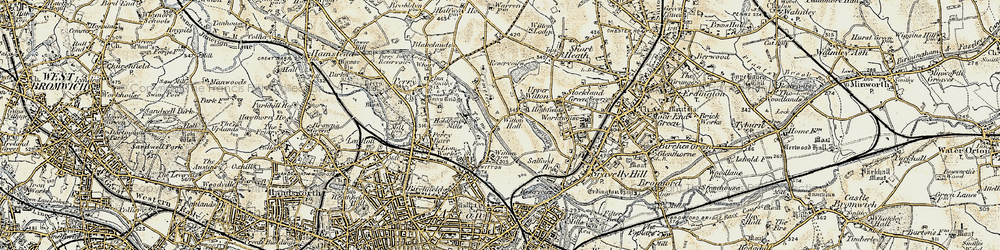 Old map of Witton in 1902