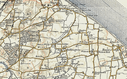 Old map of Witton Bridge in 1901-1902