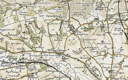 Old map of Witton Gilbert in 1901-1904